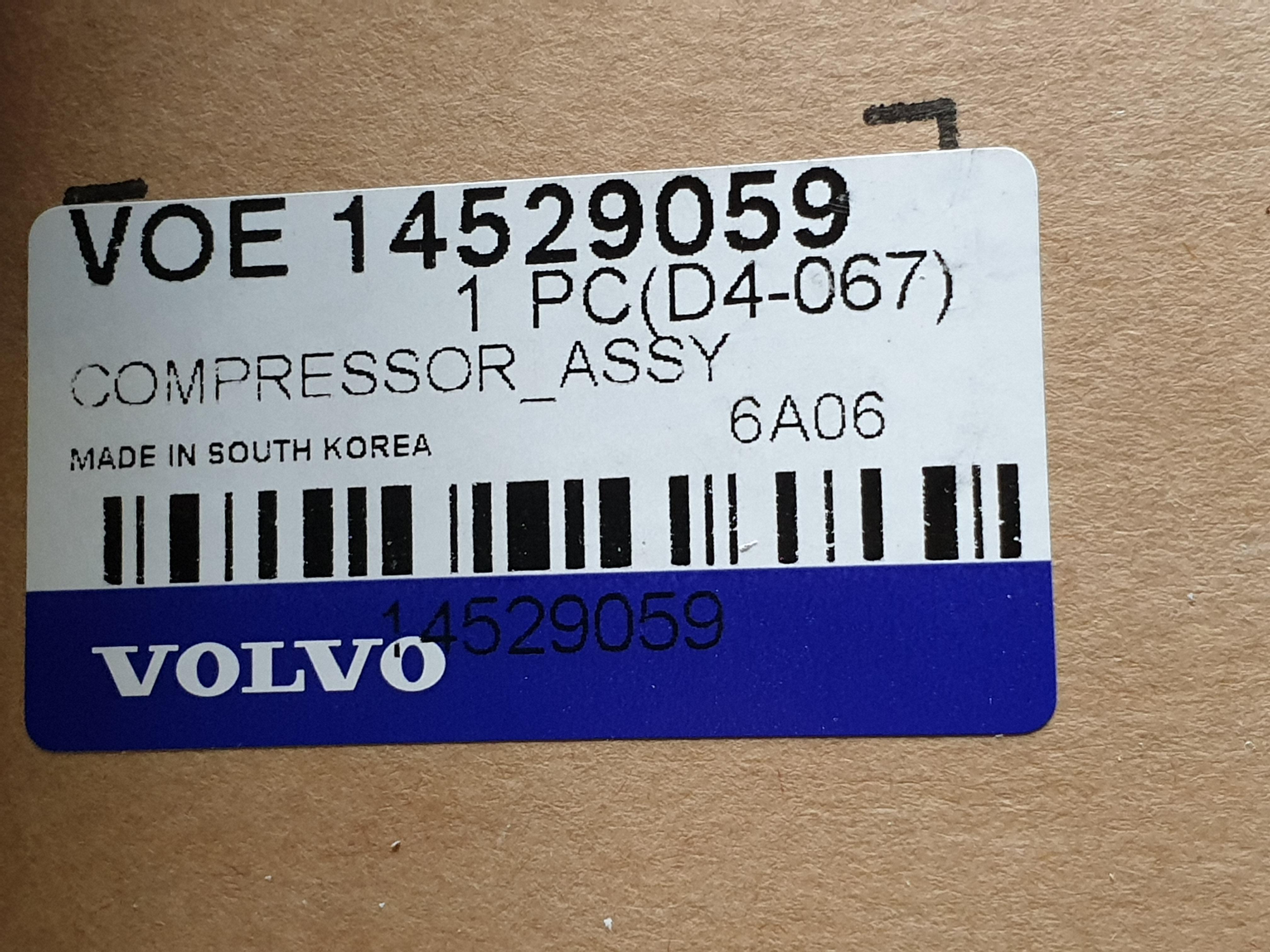 Ilmastoinnin Kompressori Volvo Ec 210 Lc 1025 03280 14529059